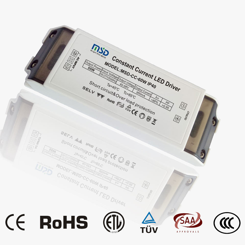 Indoor CC LED driver 55W 950mA