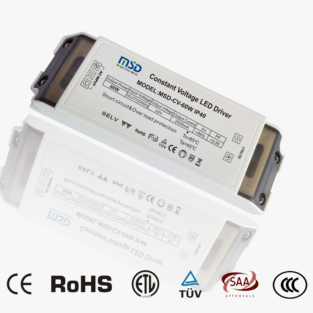Indoor Constant Voltage Led Driver 60w 24vbrightstar Company Flicker Circuit Cv 24v